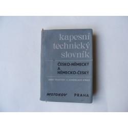 kapesní technický slovník česko německý a německo český