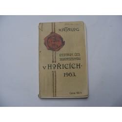 Katalog výstavy českého severovýchodu v Hořicích 1903