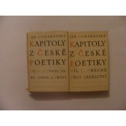 kapitoly z české poetiky díl I+II