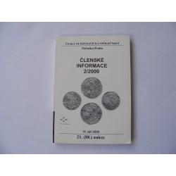 Česká numismatická společnost členské informace 2/2000